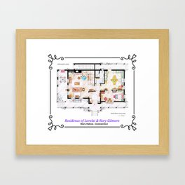 House of Lorelai & Rory Gilmore from GILMORE GIRLS- Ground Floor Framed Art Print