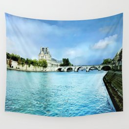 Seine River - Paris France Wall Tapestry