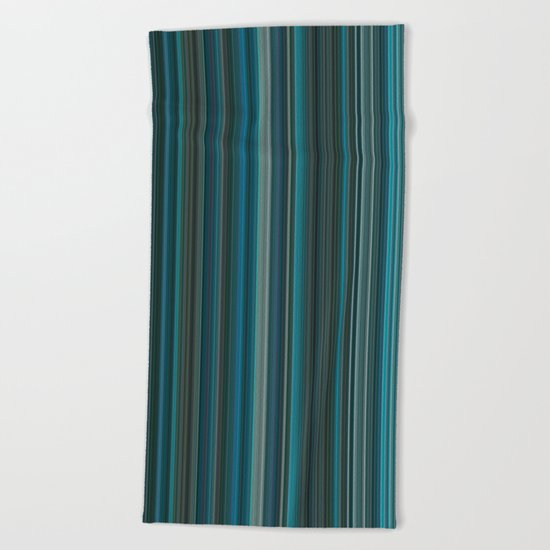 Blue lines 2 Beach Towel