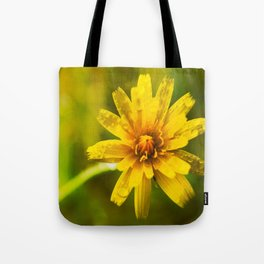 Yellow Wildflower Power Tote Bag