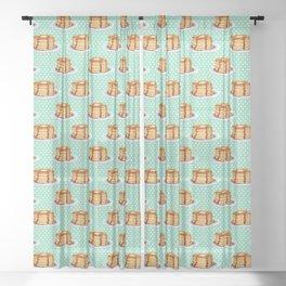Pancakes & Dots Pattern Sheer Curtain