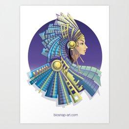 Amerindian Fantasy Art Print