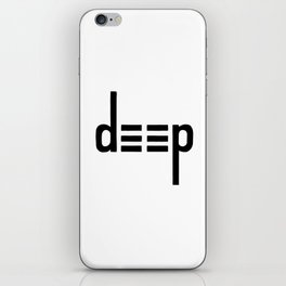DEEP - Ambigram series iPhone Skin