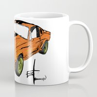 mustang Mugs featuring Mustang by Portugal Design Lab