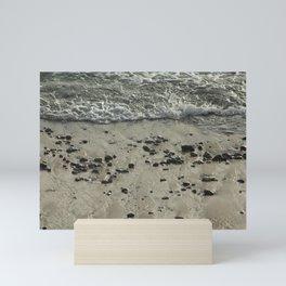 Beach Seashore Sand Pebbles Mini Art Print
