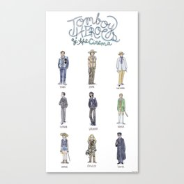 Tomboy Heroes of the Cinema Canvas Print