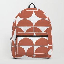 Mid Century Modern Geometric 04 Terracotta Backpack