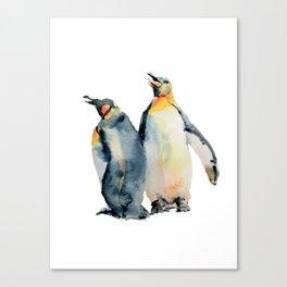 King Penguins Canvas Print