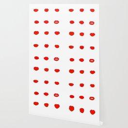 Red Lips Pattern Wallpaper