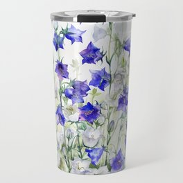 Bluebells watercolor flowers, aquarelle bellflowers Travel Mug