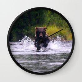 ALASKA V: Fishing in the Rain Wall Clock