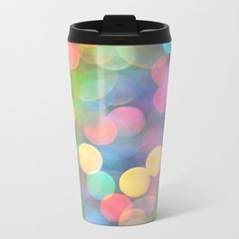 Rainbow Bokeh I Metal Travel Mug