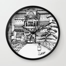 Spirited Away Bathhouse Wall Clock