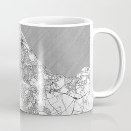 Edinburgh Map Line Coffee Mug