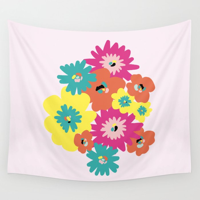 Late Spring Flowers Wall Tapestry By Mentasabrosa Society6