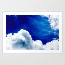 Vivid Clouds Art Print