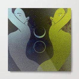 Day and Night Metal Print
