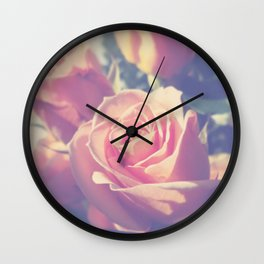 Shy Rose Wall Clock