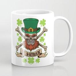 Irish Skull - St. Patrick Pirate - Lucky Bones Coffee Mug