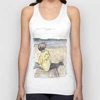 cape cod Tank Tops featuring Cape Cod by Katerina Skassi