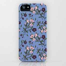 Hellebores on Blue iPhone Case