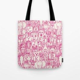animal ABC pink ivory Tote Bag