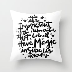 Magic Inside Throw Pillow
