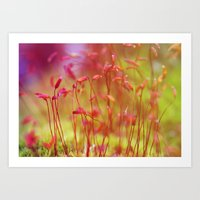 moss Art Prints featuring Moss by LoRo  Art & Pictures