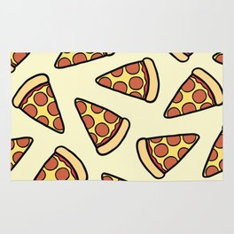 Pepperoni Pizza Pattern Rug