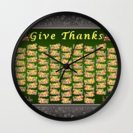 Give Thanks Wall Clock