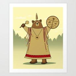 Bear Shaman Art Print