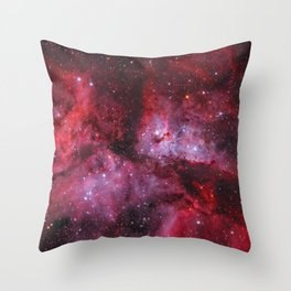 Carina Nebula Milky Way Galaxy Throw Pillow