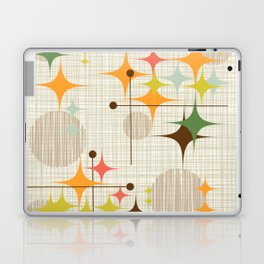 Mid Century Modern Starbursts and Globes 3a Laptop & iPad Skin