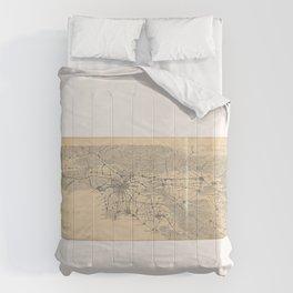 Vintage 1915 Los Angeles Area Map Comforters