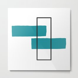 Simple Geometric Shapes Metal Print