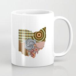 Ohio State Map Coffee Mug