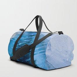 The crack of Baikal ice Duffle Bag