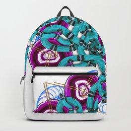 turquoise snakes mandala Backpack