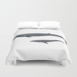 Sei whale (Balaenoptera borealis) Duvet Cover
