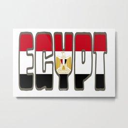 Egypt Font with Egyptian Flag Metal Print