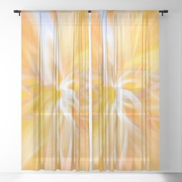 Swirling Leaves Sheer Curtain