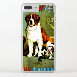 New England Dog Show 1890 Clear iPhone Case