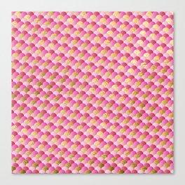 Pink Gold Mermaid Scales Canvas Print