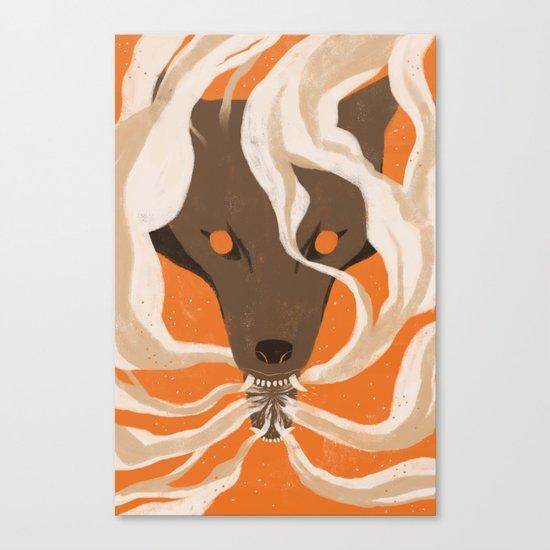 Teeth & Smoke Canvas Print