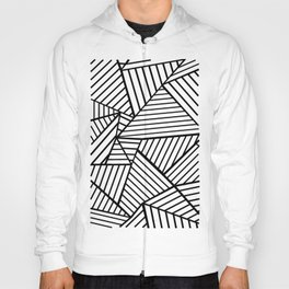 Abstraction Lines Close Up Black and White Hoody