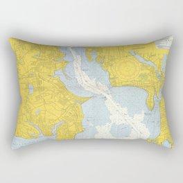 Vintage Providence River & Narragansett Bay Map Rectangular Pillow