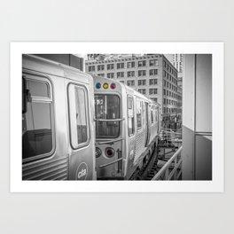 Brown Line Chicago Train El Train L Train Merchandise Mart Commute Windy City Art Print
