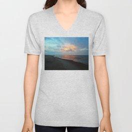 PEI Sandy Beach Sunset Unisex V-Neck