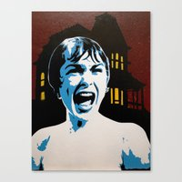 psycho Canvas Prints featuring Psycho! by thatash