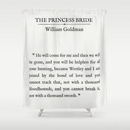 "Book Page - The Princess Bride ""The Bond of Love"" Quote Shower Curtain"